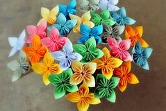 Origami kusudama flowers Royalty Free Stock Images