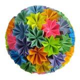 Origami kusudama rainbow stock photography
