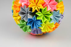 Origami kusudama rainbow royalty free stock photography