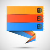 Origami label (steps) for your text, vector Stock Photos