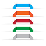 Origami labels. Set of origami labels in various colors Stock Image