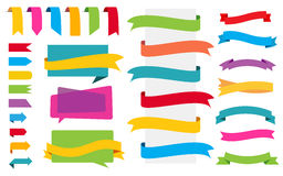 Origami Labels Banners Stickers Royalty Free Stock Images