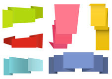 Origami labels set Royalty Free Stock Image
