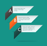Origami labels. Three simple origami labels. EPS10 vector image Stock Photos