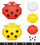 Origami ladybug creation kit Royalty Free Stock Photos