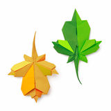 Origami leaves Royalty Free Stock Image