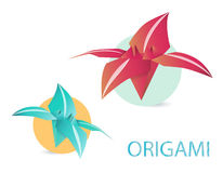 Origami lily Stock Images