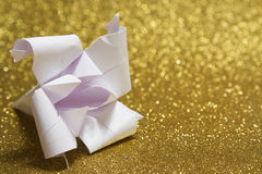 Origami lily Stock Photo
