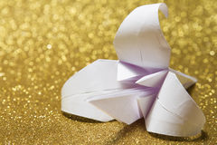 Origami lily Royalty Free Stock Photos