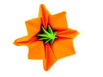 Origami lily flower Royalty Free Stock Photography