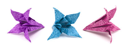 Origami  lily model Royalty Free Stock Photo