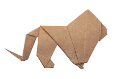 Origami lion king Royalty Free Stock Image