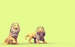 Origami lion Low Poly Royalty Free Stock Photo