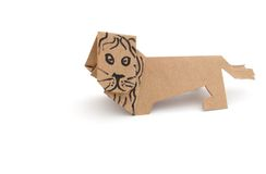 Origami lion Stock Images