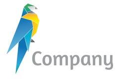 Origami loga Papuzi szablon Zdjęcie Stock