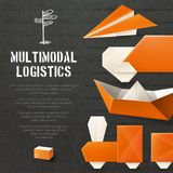 Origami Logistic Background Stock Images