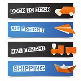 Origami Logistic Banners Stock Photography
