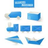 Origami Logistic Set Stock Photo