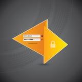 Origami LOGON-Auslegung mit Gummireifenspuren Stockfotos