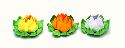 Origami lotus Stock Photo