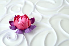 Origami lotus floer Stock Images