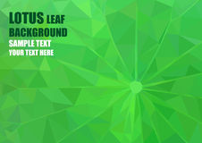 Origami lotus leaf Royalty Free Stock Photo