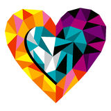 Origami Love Heart. For greeting card. Vector file available royalty free illustration