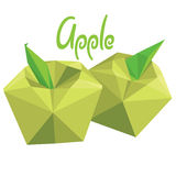 Origami (low poly) apple (+EPS 10) Royalty Free Stock Image