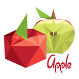 Origami (low poly) apple (+EPS 10) Stock Photo