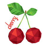 Origami (low poly) cherry (+EPS 10) Stock Photography