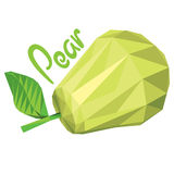 Origami (low poly) pear (+EPS 10) Stock Photography