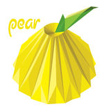 Origami (low poly) pear (+EPS 10) Royalty Free Stock Photography