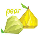 Origami (low poly) pears (+EPS 10) Stock Photography