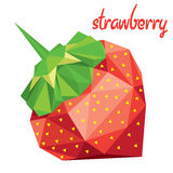 Origami (low poly) strawberry (+EPS 10) Stock Photo