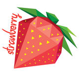Origami (low poly) strawberry (+EPS 10) Stock Photography