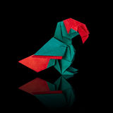 Origami macaw parrot Stock Image