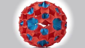 Origami magii piłka ilustracja wektor