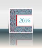 Origami 2016 mandala on polka dots background Stock Photo