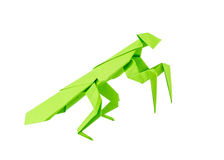 Origami mantis Royalty Free Stock Photos