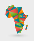 Origami map of africa Stock Images