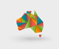 Origami map of australia Stock Photos