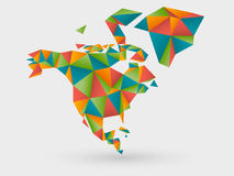 Origami map of north america Stock Photography