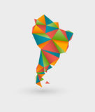 Origami map of south america Stock Photo