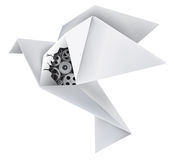 Origami mechanical pigeon Royalty Free Stock Image