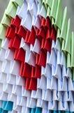 Origami med hjärta Royaltyfri Fotografi