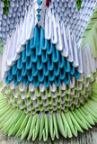 Origami med papper Fotografering för Bildbyråer