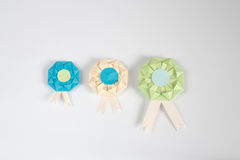 Origami medal Obrazy Royalty Free