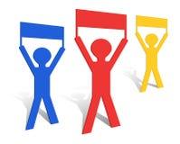 Origami Men Royalty Free Stock Photo
