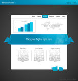 Origami modern web template. Royalty Free Stock Photo