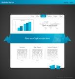 Origami moderne Web-Schablone. Lizenzfreies Stockfoto